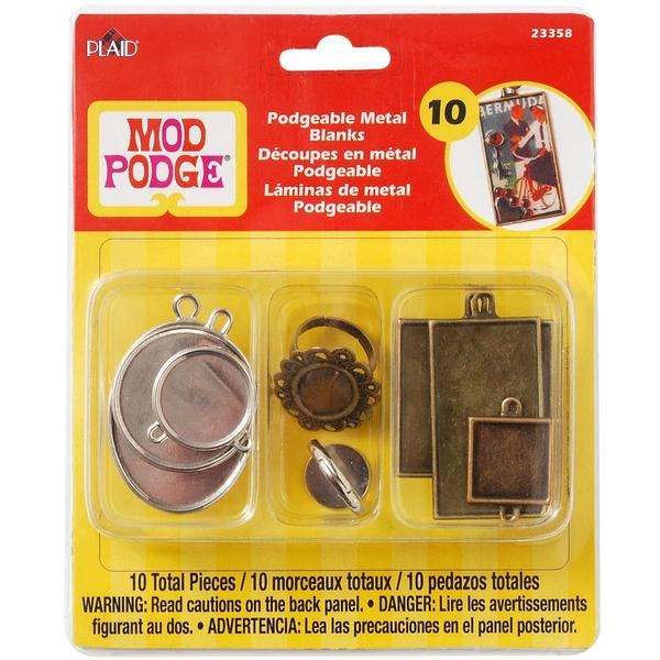 Mod Podgeable Metal Blanks 10/Pkg -