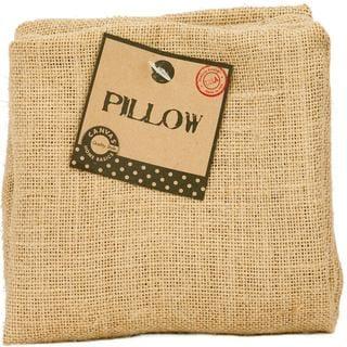 Burlap Pillow Square 14 X14 - Natural