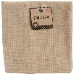 Natural 18 x 18 Square Burlap Pillow