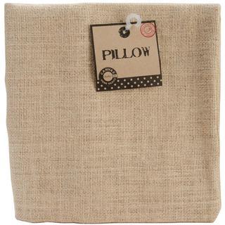 Natural 18 x 18 Square Burlap Pillow