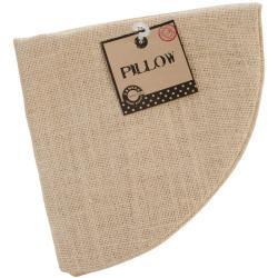 Burlap Pillow Round 18 - Natural