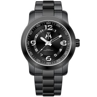 Jivago Women's Infinity Black Stainless Steel Quartz Watch
