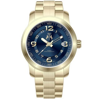 Jivago Women's Infinity Goldtone Stainless Steel Blue Dial Watch