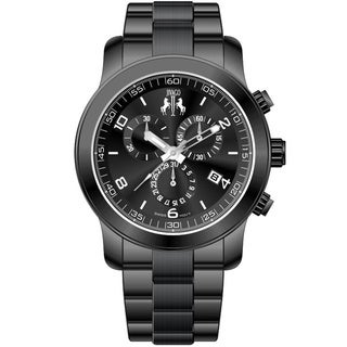 Jivago Women's Infinity Black Stainless Steel Watch