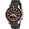 Wenger Men's Sea Force Chrono Black Dial Orange Accent Diver Watch - 0643.104