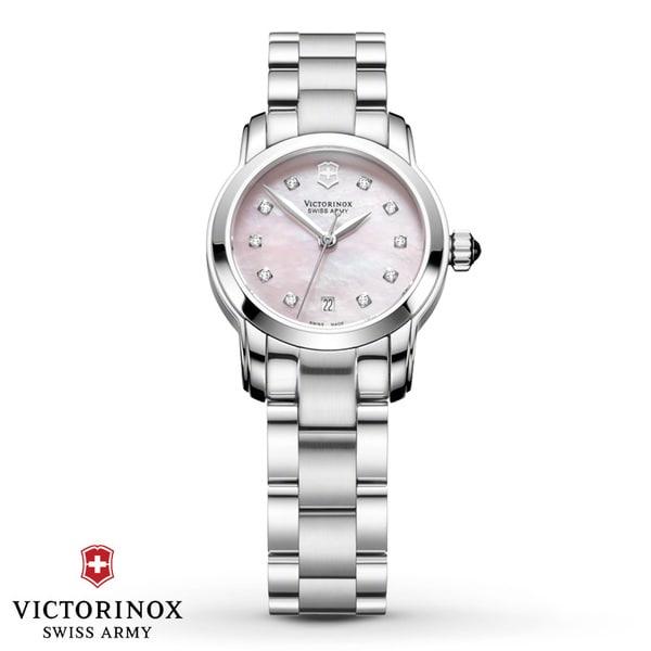 Swiss Army Women's Vivante Pink Mother Of Pearl Diamond ...