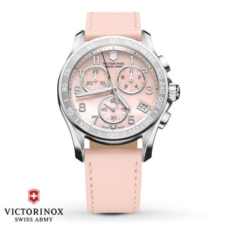 Swiss Army Women's Chrono Classic Peach Mother-Of-Pearl Dial Watch - 241419