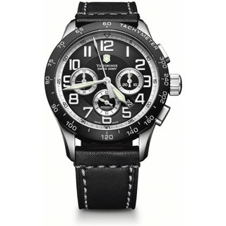 Swiss Army Men's Airboss Chrono Black Dial Mechanical Watch - 241447