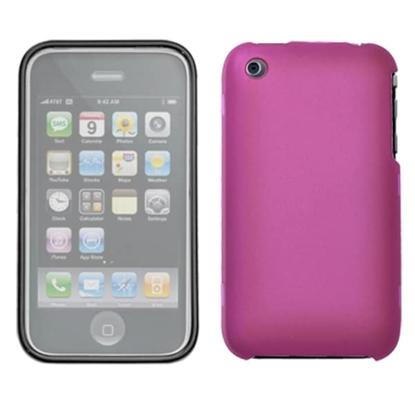INSTEN Hot Pink Phone Case Cover with Lens for Apple iPhone 3G/ 3GS