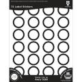 Black Ice Laser Printable Label Stickers 1.66 72/Pkg - Black Medallion Circles