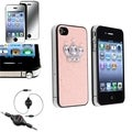 BasAcc Case/ Audio Cable/ Mirror LCD Protector for Apple iPhone 4/ 4S