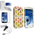 BasAcc Case Set/ Car Charger/ Screen Protector for Samsung Galaxy S3