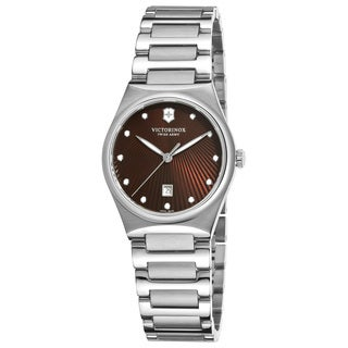 Swiss Army Women's Victoria Brown Sunray Dial Stainless Steel Watch - 241522