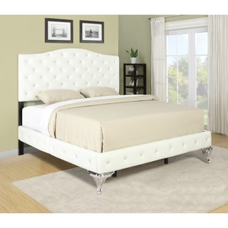 Portfolio Marilyn Ivory Bed with Jewel Adornment