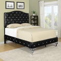 Portfolio Marilyn Black Bed with Jewel Adornment