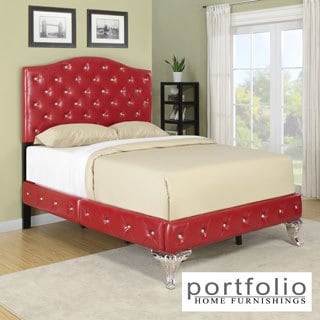 Portfolio Marilyn Red Bed with Jewel Adornment