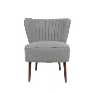 nuLOOM Contemporary Pleated Grey Accent Chair