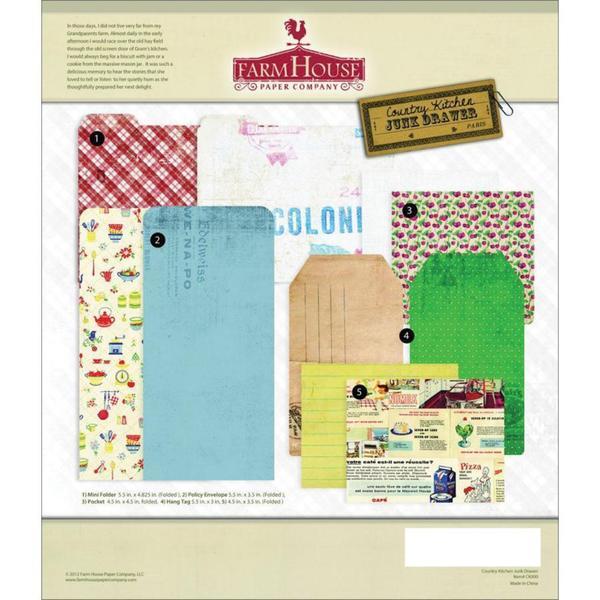 Country Kitchen Junk Drawer Embellishments 5/Pkg -