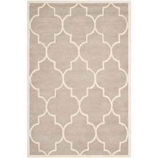 Safavieh Handmade Moroccan Cambridge Beige/ Ivory Wool Rug (3' x 5')