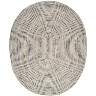 Safavieh Hand-woven Cape Cod Natural/ Blue Jute Rug (8' x 10')