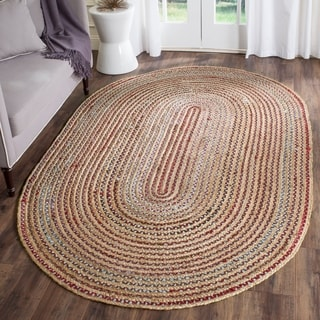 Safavieh Cape Cod Handwoven Natural Oval Jute Rug (5' x 8')