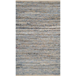 Safavieh Handwoven Cape Cod Braided Natural/ Blue Jute Rug (3' x 5')
