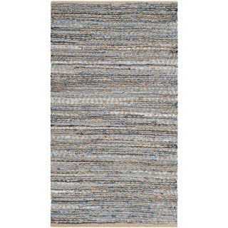 Safavieh Handwoven Cape Cod Natural/ Blue Braided Jute Rug (4' x 6')