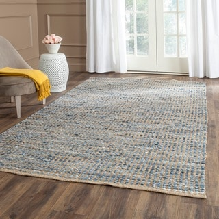 Safavieh Hand-woven Cape Cod Natural/ Blue Jute Rug (3' x 5')