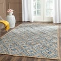 Safavieh Hand-woven Cape Cod Natural/ Blue Jute Rug (5' x 8')