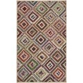 Safavieh Hand-woven Cape Cod Natural/ Red Jute Rug (4' x 6')