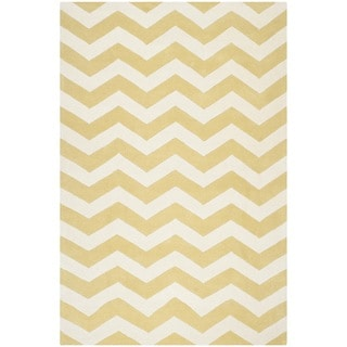 Safavieh Handmade Moroccan Chatham Light Gold/ Ivory Wool Area Rug (8'9'' x 12')