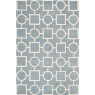 Safavieh Handmade Moroccan Chatham Blue/ Ivory Wool Rug (8'9 x 12')