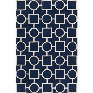 Safavieh Handmade Moroccan Chatham Dark Blue/ Ivory Wool Area Rug (8'9 x 12')