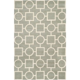 Safavieh Handmade Moroccan Chatham Gray/ Ivory Wool Area Rug (8' x 10')