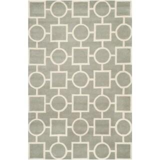 Safavieh Handmade Moroccan Chatham Grey/ Ivory Wool Rug (8'9 x 12')
