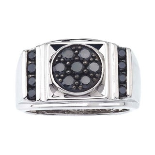 Sterling Silver 1ct TDW Men's Black Diamond Ring