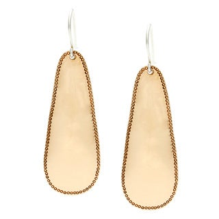Hammered Edge Copper Hanging Earrings (Nepal)