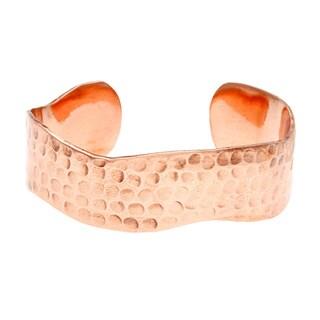 Hammered Copper Zig-zag Cuff Bracelet (Nepal)