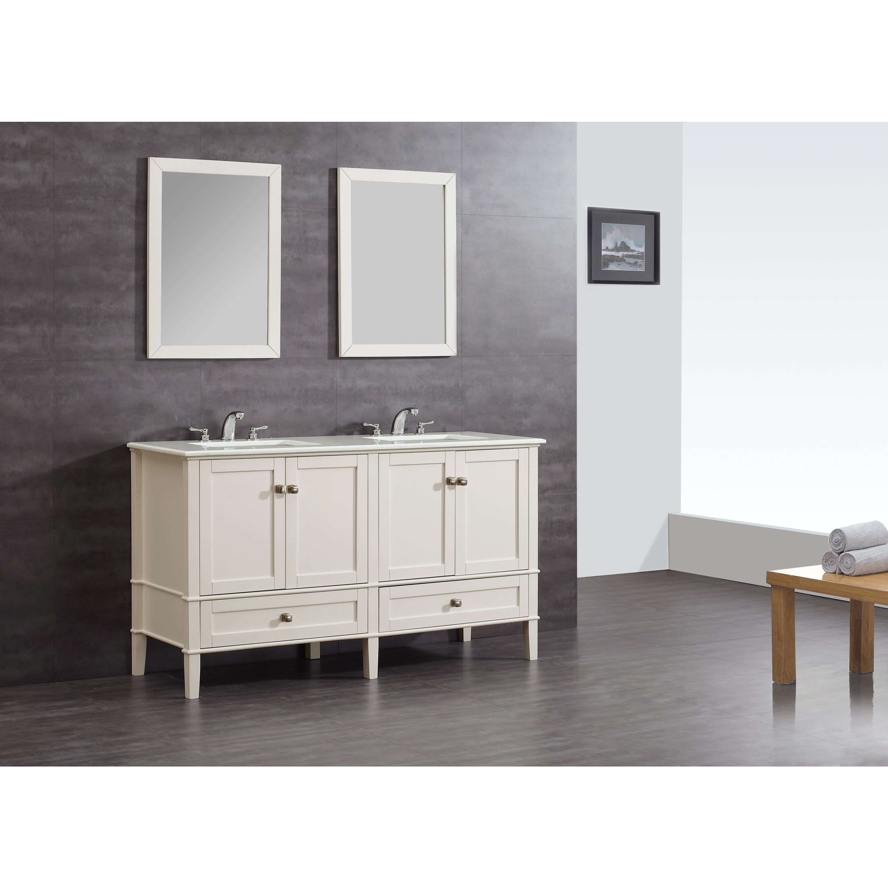 WyndenHall Windham Soft White 60-inch Bath Vanity Set at Sears.com