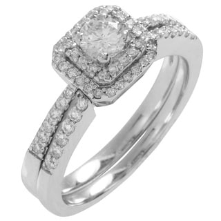 14k Gold 3/4ct TDW Round Diamond Bridal Ring Set (G-H, SI1-SI2)