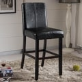 Castillian Black Faux Leather Barstool