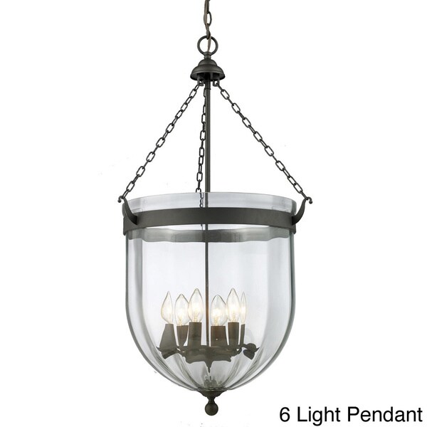 Warwick Multi-Light Sculpted Glass Fixture