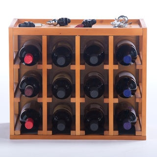 Lancaster Stackable 12-Bottle Wine Rack