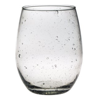 Stemless 15-ounce Wine Bubble Glasses Set of 4