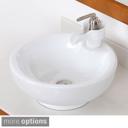 ELITE High Temperature Grade A Ceramic Bathroom Sink/ Faucet
