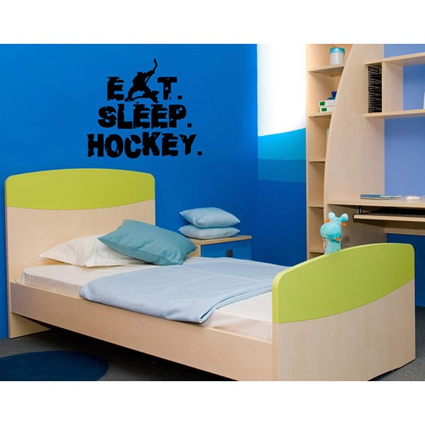 'Eat. Sleep. Hockey.' Vinyl Wall Art