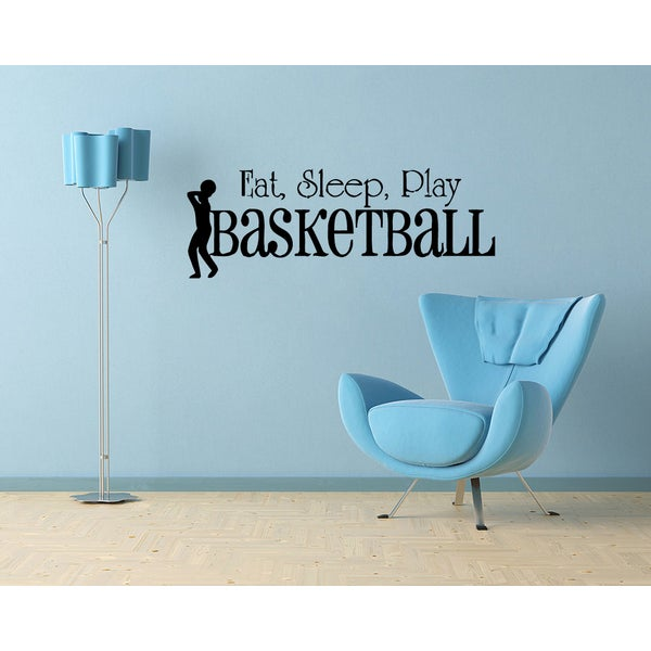 'Eat. Sleep. Basketball.' Vinyl Wall Art