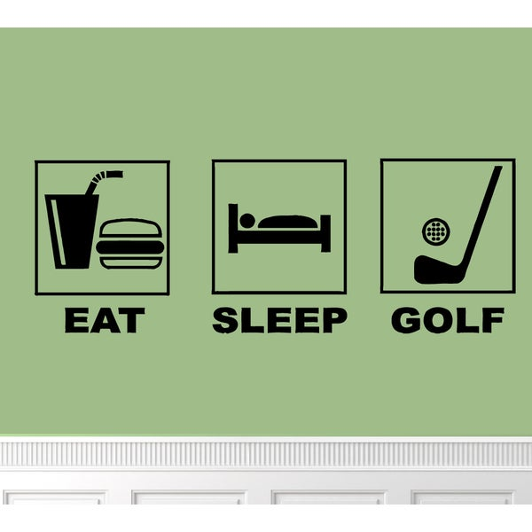 'Eat. Sleep. Golf.' Vinyl Wall Art