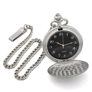 Men's Custom-engraved Silverplated Pocket Watch