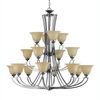 Kavala 16-light Satin Nickel Entry Chandelier